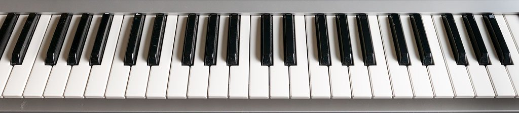 MIDI keyboard keys