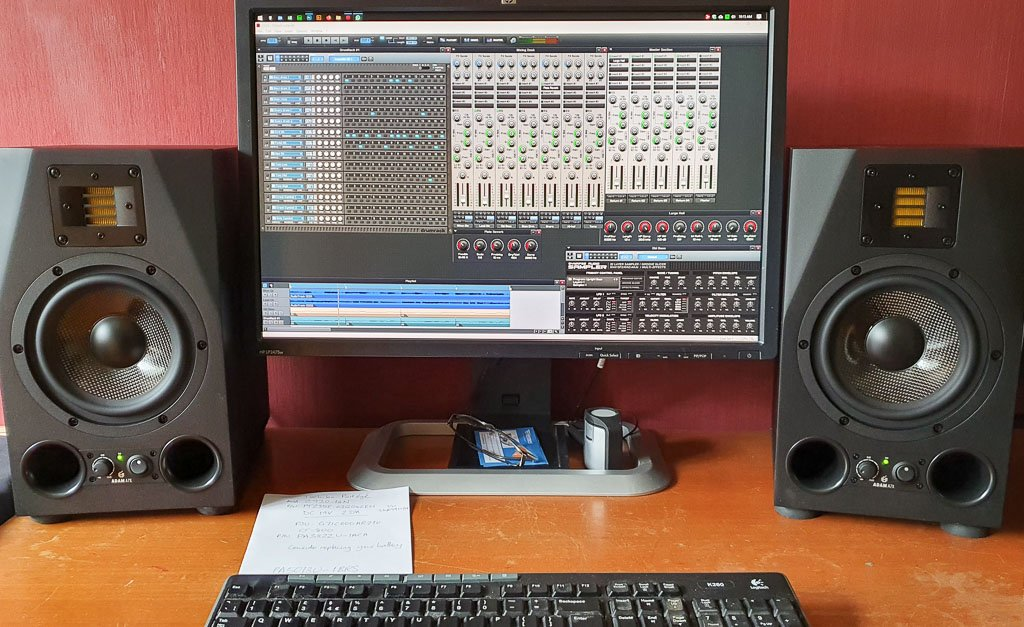 Ready to record again - Orion Pro and Adam A7X monitors